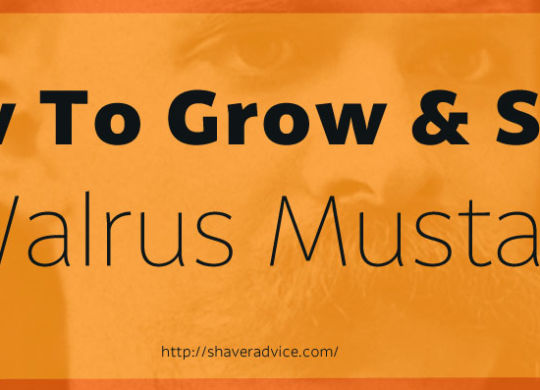 How to Grow and Style a Walrus Mustache